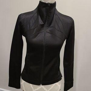 Lululemon black satin look define jacket